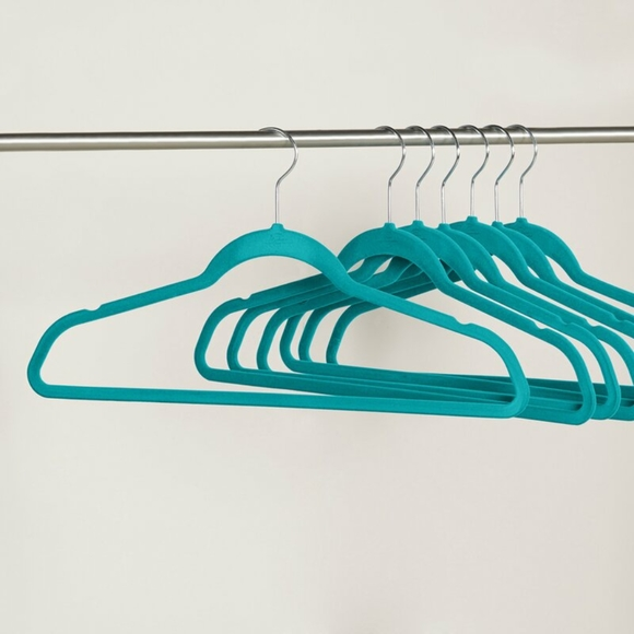 NWT | Lambright Velvet Teal Hangers (Set of 50)